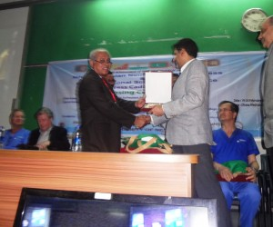 Felicitated by Bangladesh Neurosurgical Society (BNS) Receiving Award from the President of BNS.